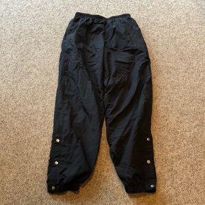 Vtg Nike black nylon snap up nylon sweatpants sz L